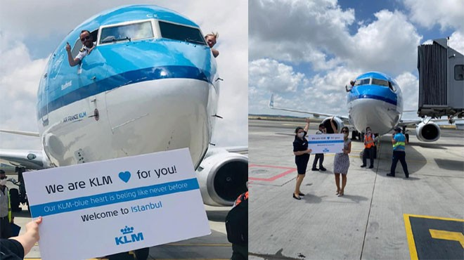 KLM YENİDEN İSTANBUL'DA